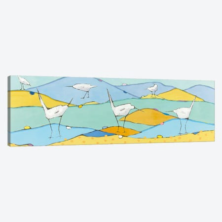 Marsh Egrets I Canvas Print #WAC5996} by Phyllis Adams Art Print