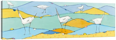 Marsh Egrets I Canvas Art Print