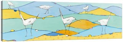 Marsh Egrets I Canvas Art Print
