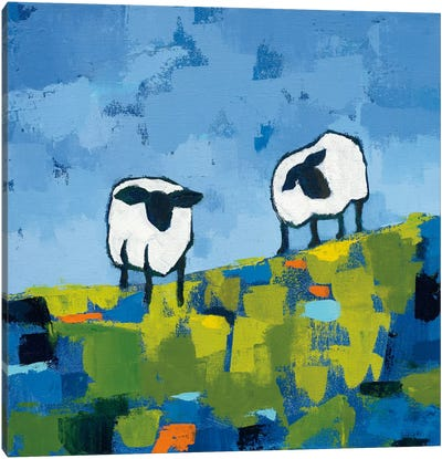 Two Sheep Canvas Art Print