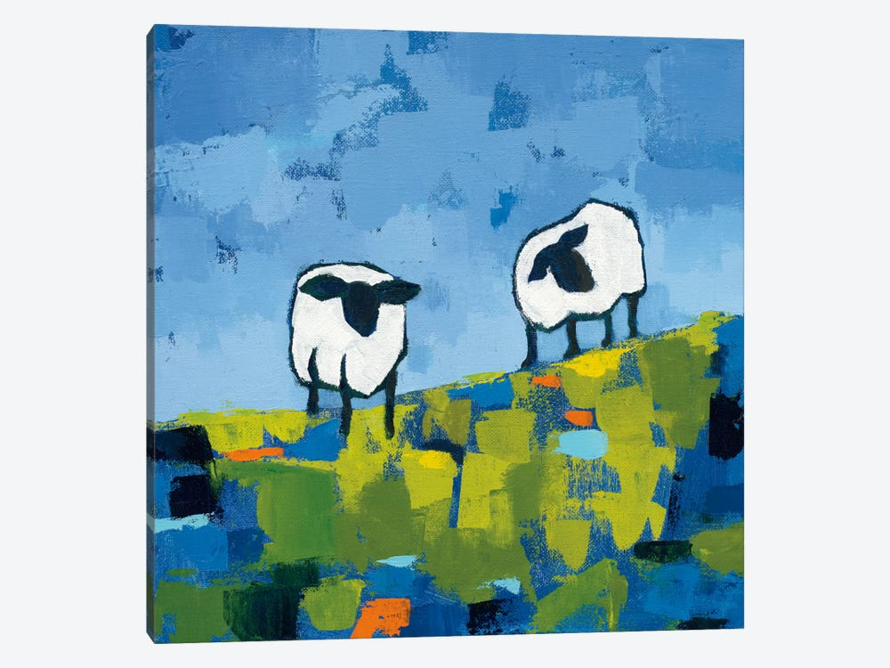 Two Sheep by Phyllis Adams 1-piece Canvas Print