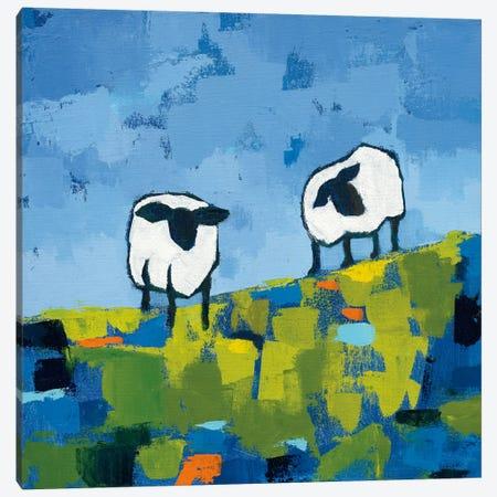 Two Sheep Canvas Print #WAC5998} by Phyllis Adams Canvas Wall Art