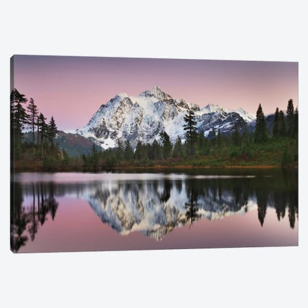 Mount Shukan Reflection II Canvas Print #WAC6001} by Alan Majchrowicz Canvas Art