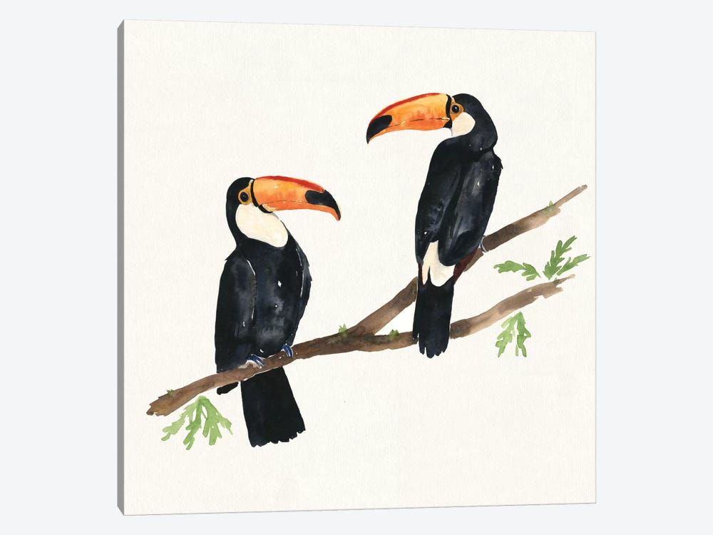 Tropical Fun Bird I by Harriet Sussman 1-piece Canvas Print
