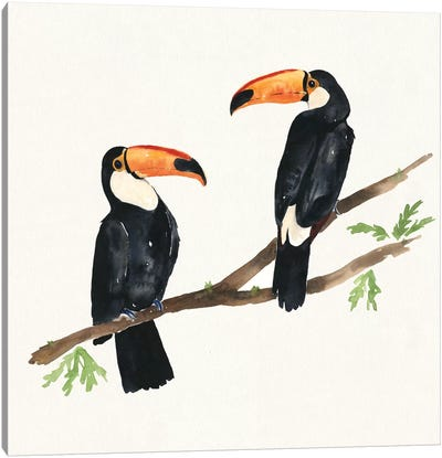 Tropical Fun Bird I Canvas Print #WAC6003