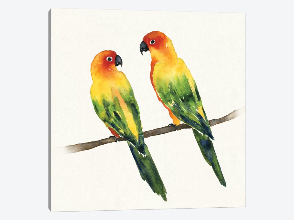 Tropical Fun Bird III by Harriet Sussman 1-piece Canvas Wall Art
