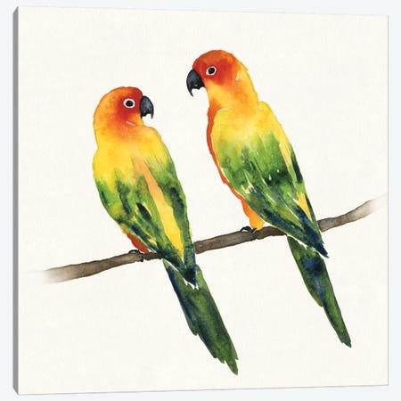 Tropical Fun Bird III Canvas Print #WAC6004} by Harriet Sussman Art Print