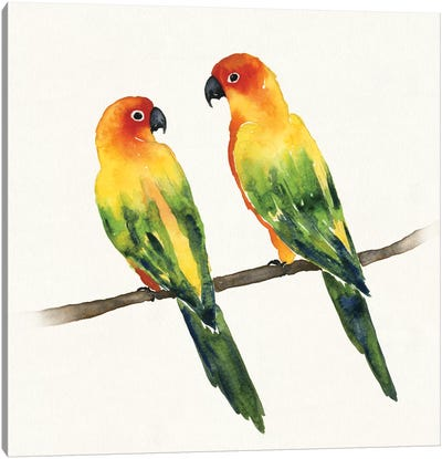Tropical Fun Bird III Canvas Art Print