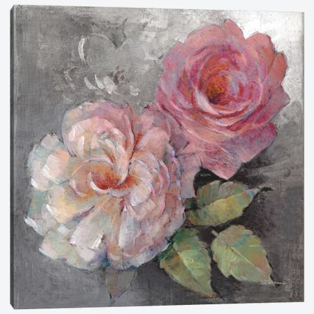 Roses On Gray I Canvas Print #WAC6005} by Peter McGowan Canvas Art Print