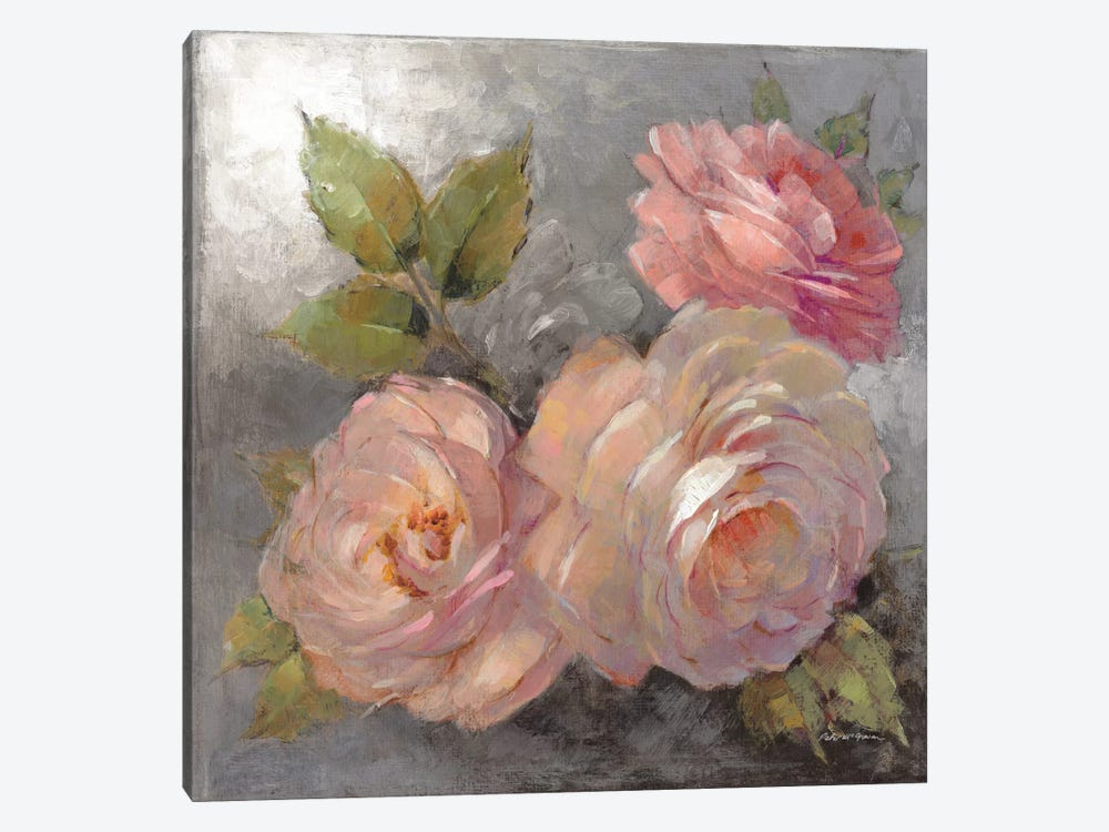 Roses On Gray II by Peter McGowan 1-piece Canvas Artwork