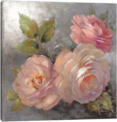 Roses On Gray II Canvas Art Print