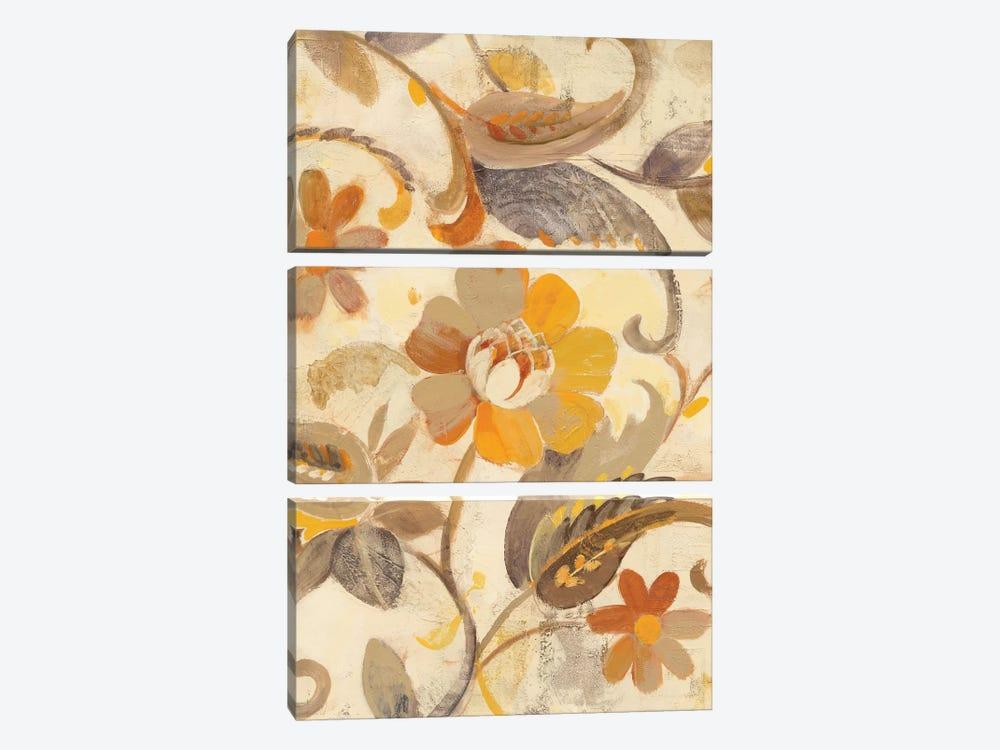Detail Of Right Side, Autumn Garden by Albena Hristova 3-piece Canvas Art Print
