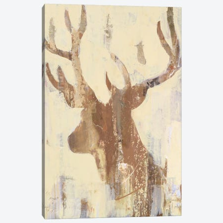 Golden Antlers II Canvas Print #WAC6011} by Albena Hristova Canvas Art Print