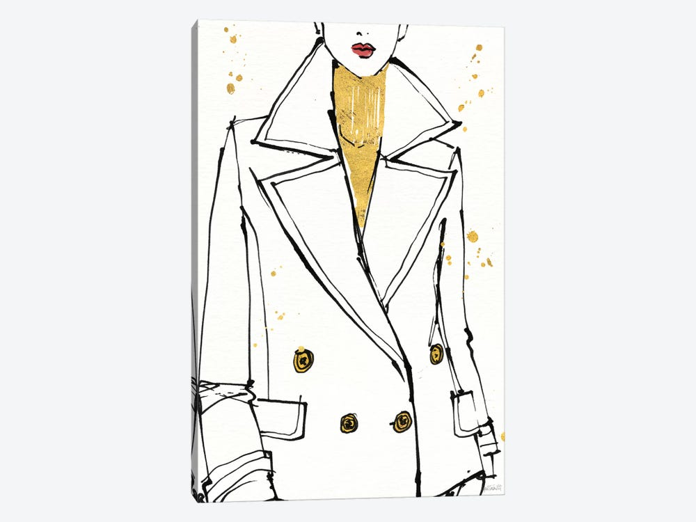 Fashion Strokes I by Anne Tavoletti 1-piece Canvas Print