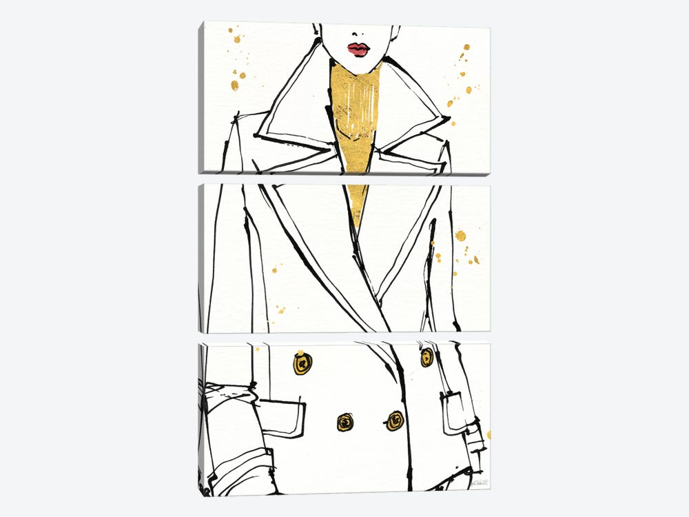 Fashion Strokes I by Anne Tavoletti 3-piece Canvas Art Print