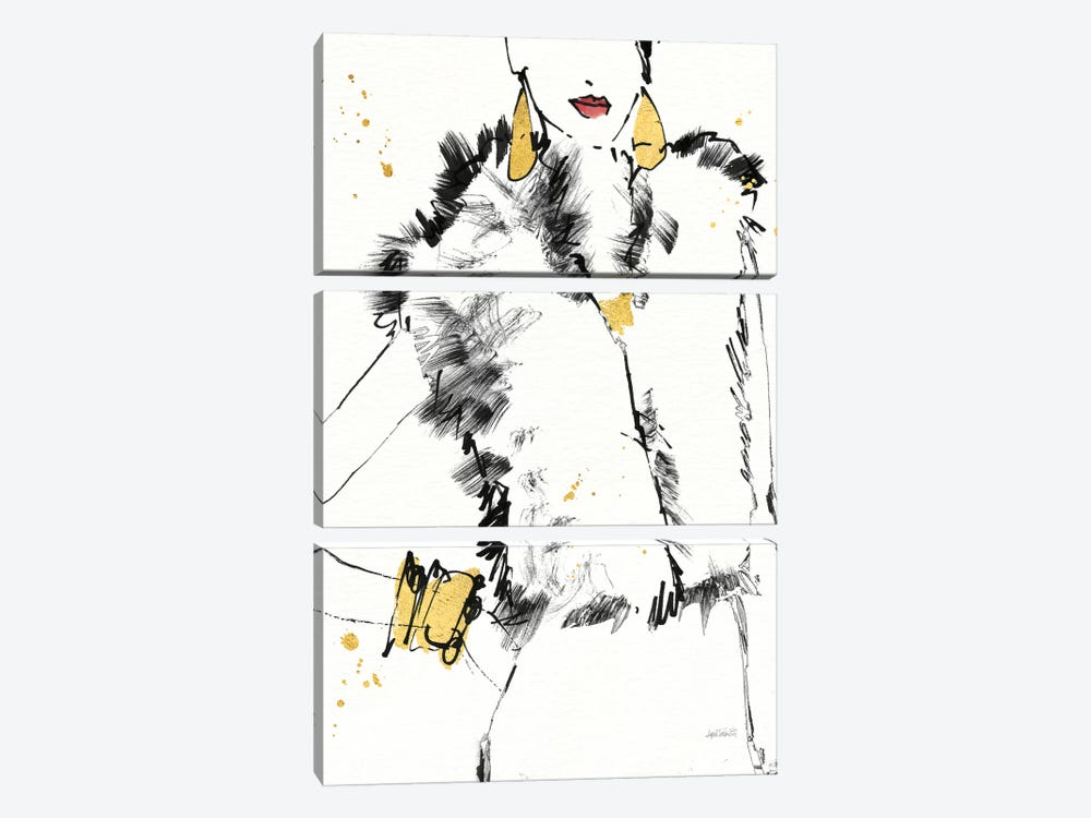 Fashion Strokes IV by Anne Tavoletti 3-piece Canvas Artwork