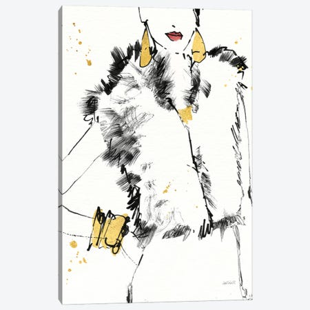 Fashion Strokes IV Canvas Print #WAC6015} by Anne Tavoletti Canvas Art
