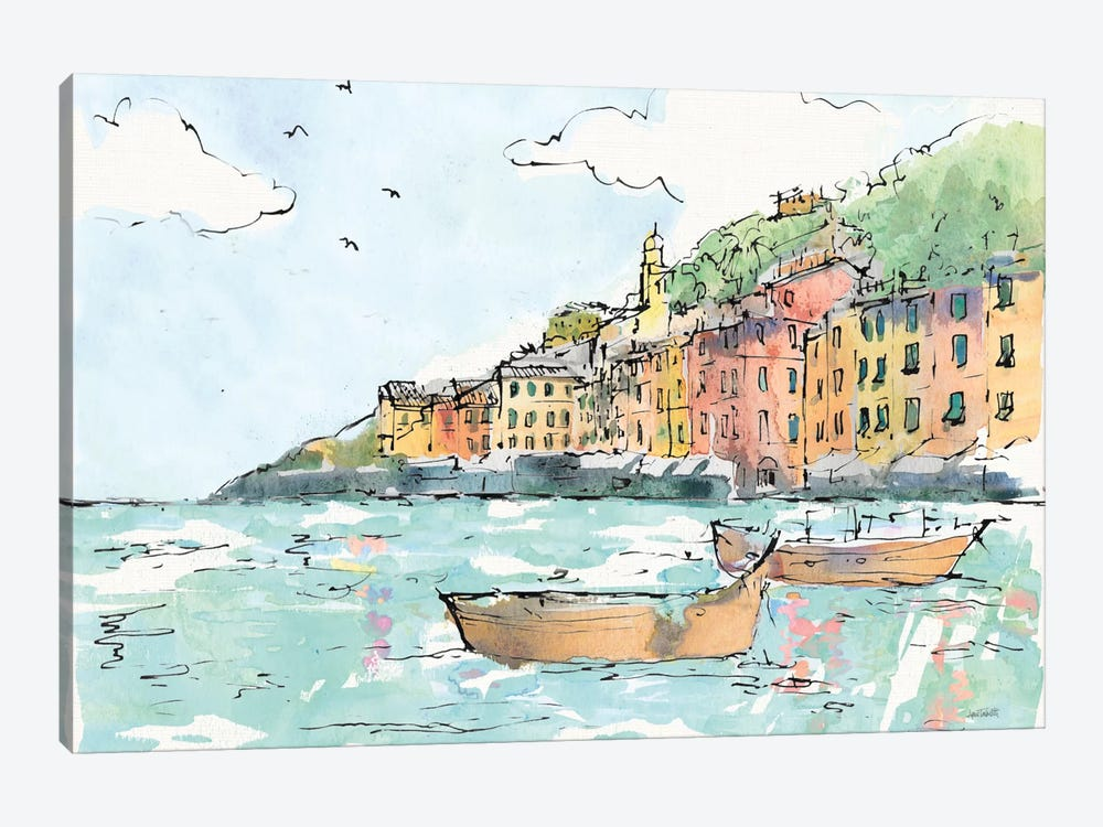 Portofino I by Anne Tavoletti 1-piece Canvas Artwork