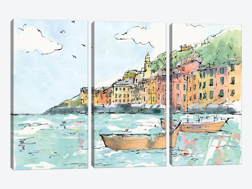 Portofino I by Anne Tavoletti 3-piece Canvas Wall Art