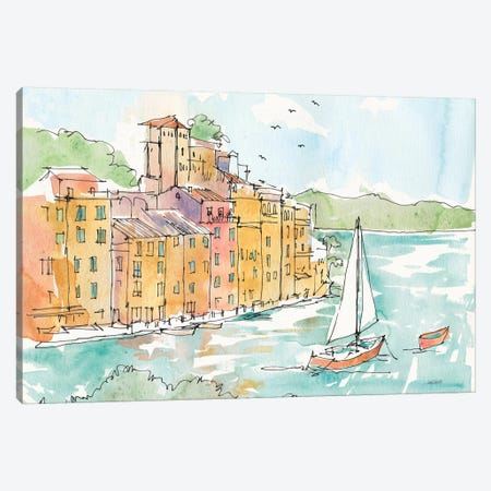 Portofino II Canvas Print #WAC6021} by Anne Tavoletti Canvas Artwork
