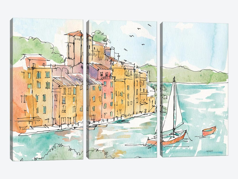 Portofino II by Anne Tavoletti 3-piece Canvas Print
