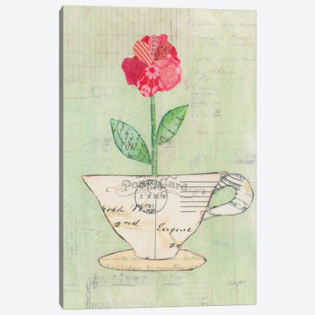 Teacup Floral I Canvas Print #WAC6024} by Courtney Prahl Canvas Print