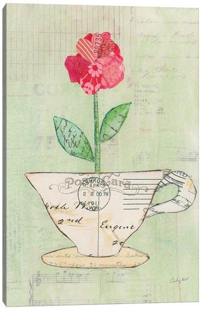 Teacup Floral I Canvas Art Print