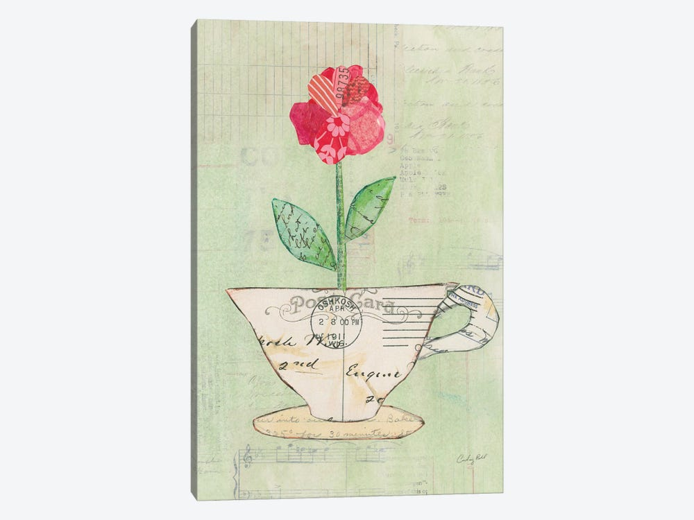 Teacup Floral I by Courtney Prahl 1-piece Canvas Wall Art