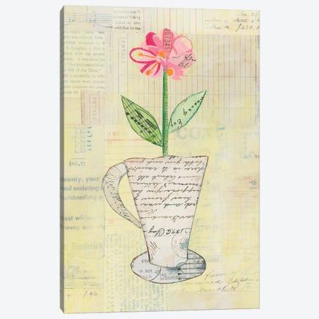 Teacup Floral II 3-Piece Canvas #WAC6025} by Courtney Prahl Canvas Art Print