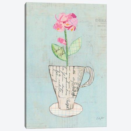 Teacup Floral III 3-Piece Canvas #WAC6026} by Courtney Prahl Canvas Art Print