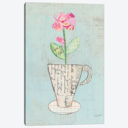 Teacup Floral III Canvas Print #WAC6026} by Courtney Prahl Canvas Art Print