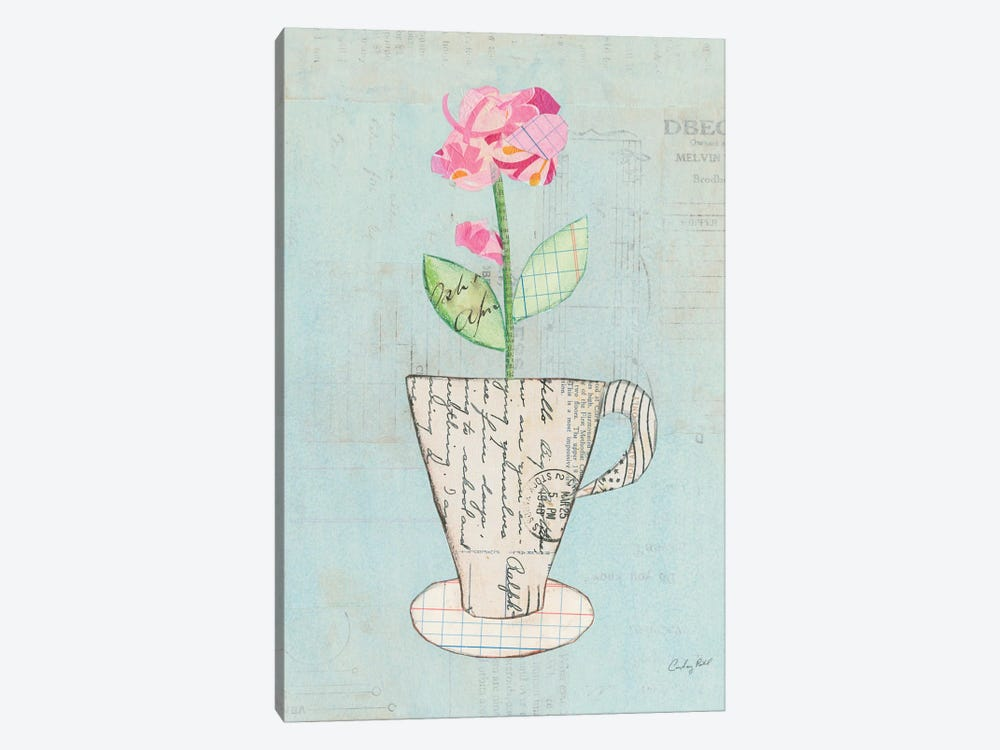 Teacup Floral III by Courtney Prahl 1-piece Canvas Artwork
