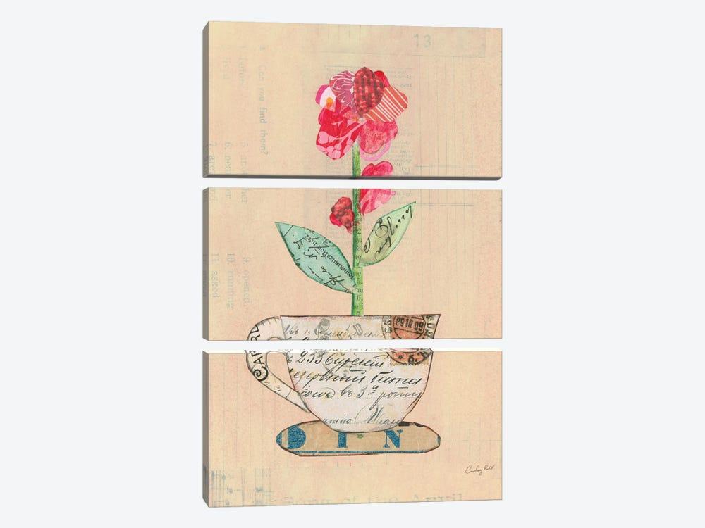 Teacup Floral IV by Courtney Prahl 3-piece Art Print
