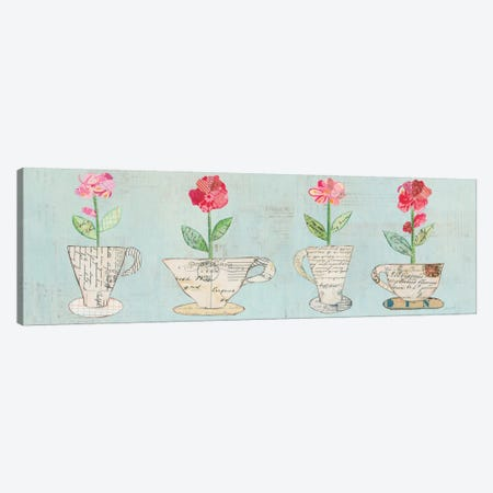 Teacup Floral V 3-Piece Canvas #WAC6028} by Courtney Prahl Canvas Art