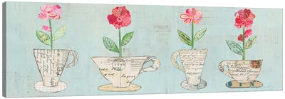 Teacup Floral V Canvas Art Print