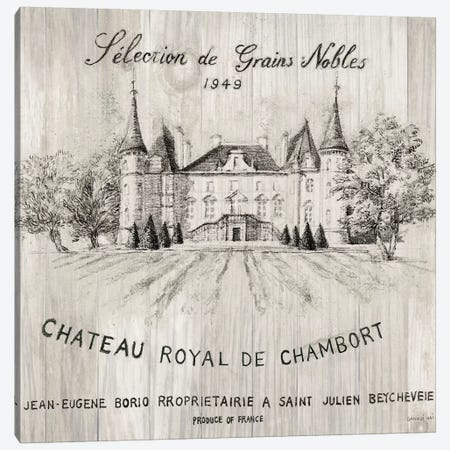 Chateau Chambort On Wood Canvas Print #WAC6030} by Danhui Nai Canvas Print