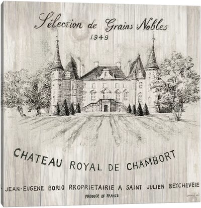 Chateau Chambort On Wood Canvas Art Print