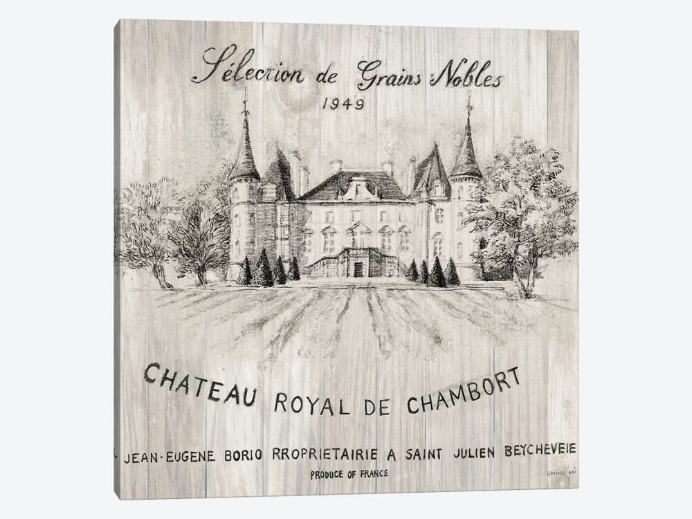 Chateau Chambort On Wood 1-piece Canvas Art Print