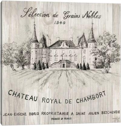 Chateau Chambort On Wood Canvas Art Print