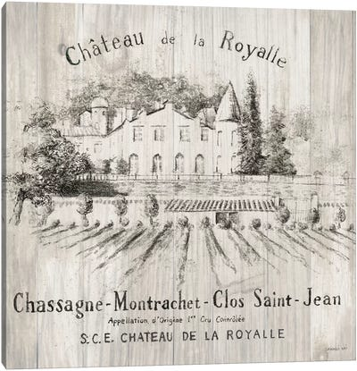 Chateau Royalle On Wood Canvas Art Print