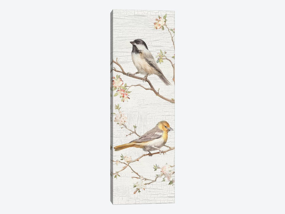 Vintage Birds Panel II by Danhui Nai 1-piece Canvas Art