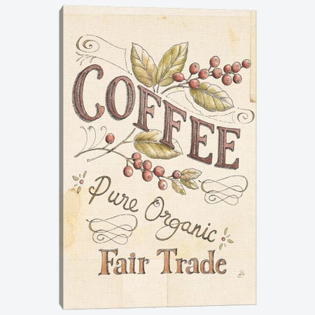Authentic Coffee VI Canvas Print #WAC6034} by Daphne Brissonnet Canvas Wall Art