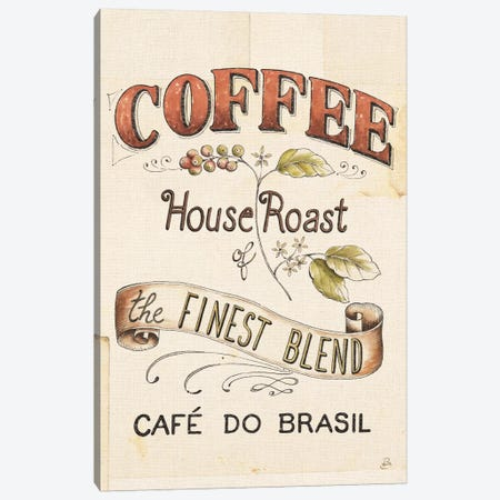 Authentic Coffee IX Canvas Print #WAC6037} by Daphne Brissonnet Canvas Wall Art
