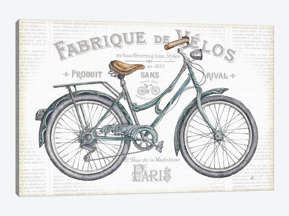 Bicycles I by Daphne Brissonnet 1-piece Canvas Wall Art