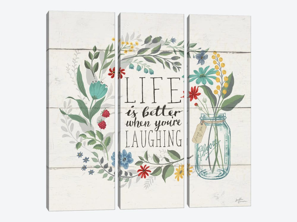 Blooming Thoughts I by Janelle Penner 3-piece Canvas Print
