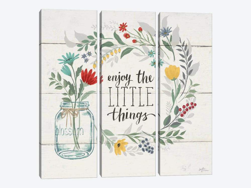 Blooming Thoughts II by Janelle Penner 3-piece Canvas Artwork