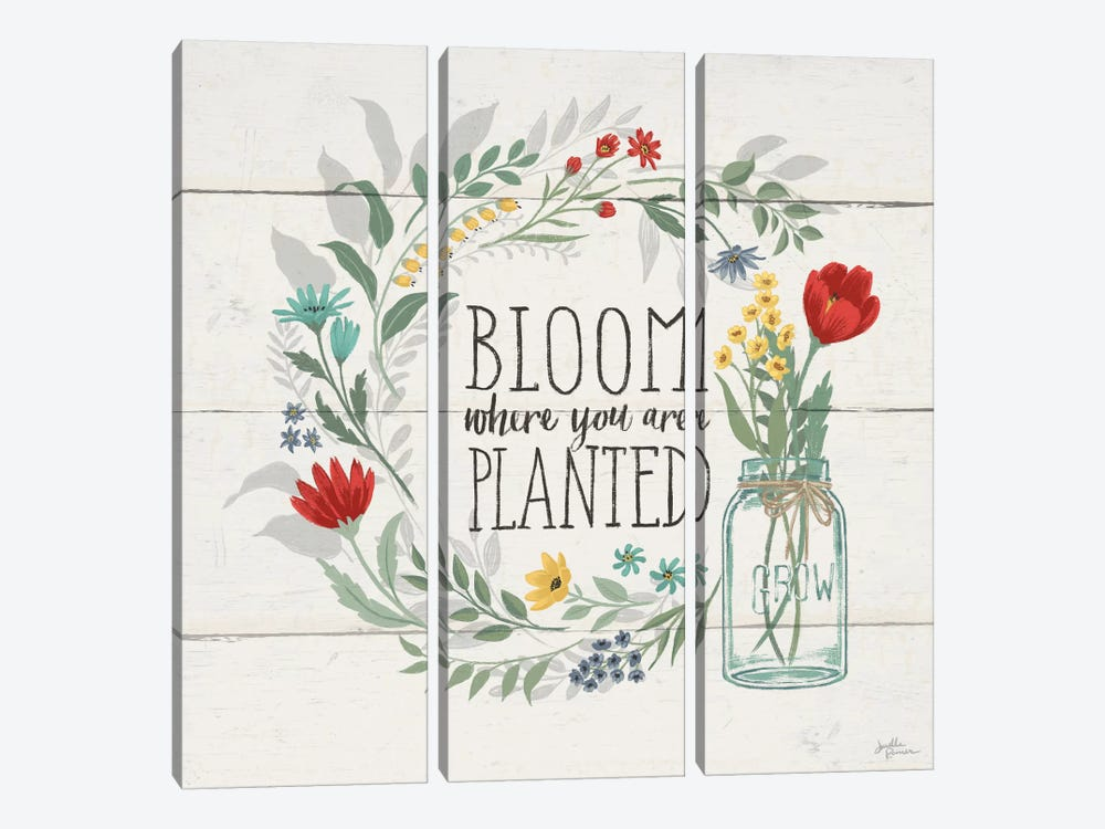 Blooming Thoughts III by Janelle Penner 3-piece Art Print