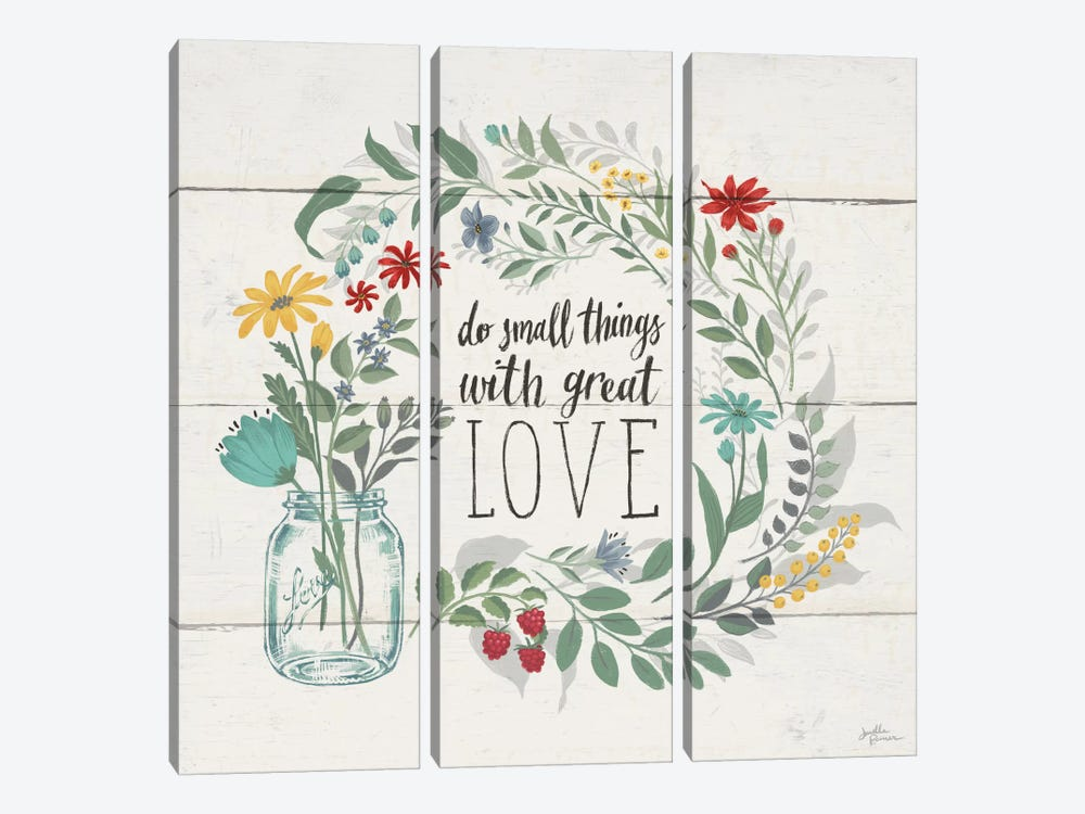 Blooming Thoughts IV by Janelle Penner 3-piece Canvas Wall Art