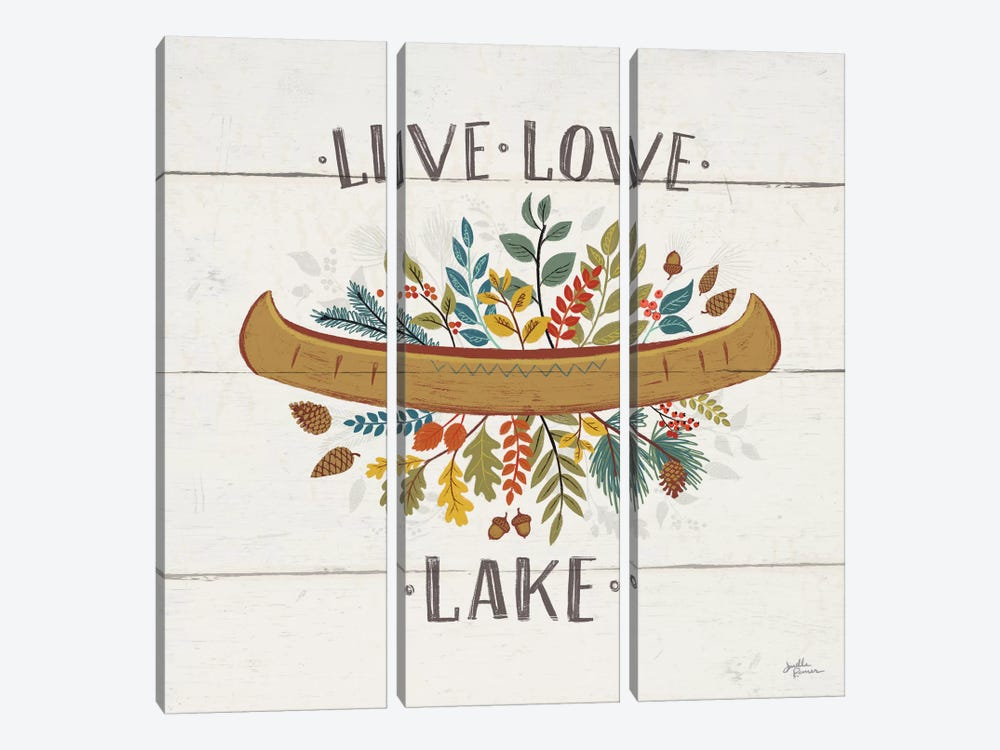 Peace & Lodge I by Janelle Penner 3-piece Canvas Wall Art