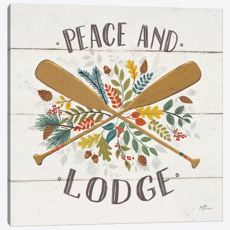 Peace & Lodge IV Canvas Print #WAC6069} by Janelle Penner Canvas Wall Art